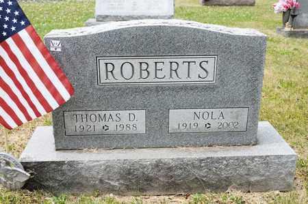 ROBERTS, NOLA - Richland County, Ohio | NOLA ROBERTS - Ohio Gravestone Photos