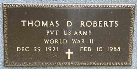 ROBERTS, THOMAS D - Richland County, Ohio | THOMAS D ROBERTS - Ohio Gravestone Photos