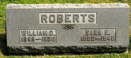 ROBERTS, WILLIAM D - Richland County, Ohio | WILLIAM D ROBERTS - Ohio Gravestone Photos