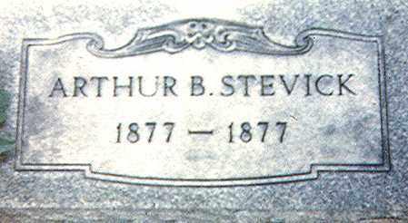 STEVICK, ARTHUR B. - Richland County, Ohio   ARTHUR B. STEVICK - Ohio Gravestone Photos