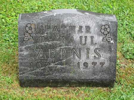 ZERNIS, P. PAUL - Richland County, Ohio | P. PAUL ZERNIS - Ohio Gravestone Photos