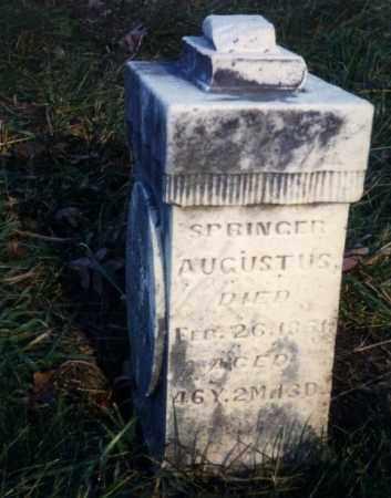 AUGUSTUS, SPRINGER - Ross County, Ohio | SPRINGER AUGUSTUS - Ohio Gravestone Photos