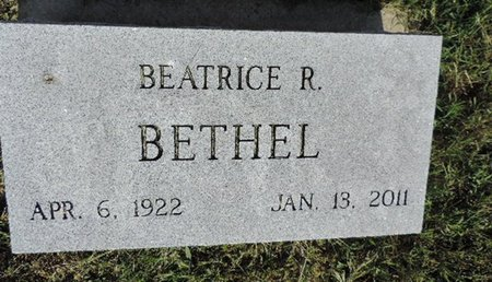 BETHEL, BEATICE R - Ross County, Ohio | BEATICE R BETHEL - Ohio Gravestone Photos