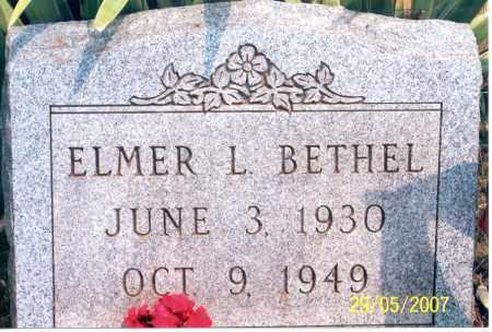 BETHEL, ELMER L. - Ross County, Ohio   ELMER L. BETHEL - Ohio Gravestone Photos