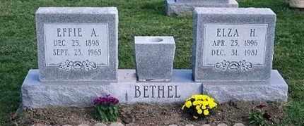 BETHEL, EFFIE A. - Ross County, Ohio | EFFIE A. BETHEL - Ohio Gravestone Photos
