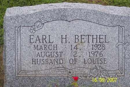BETHEL, EARL H. - Ross County, Ohio | EARL H. BETHEL - Ohio Gravestone Photos