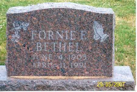 BETHEL, FORNIE E. - Ross County, Ohio | FORNIE E. BETHEL - Ohio Gravestone Photos