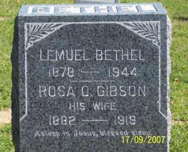 GIBSON BETHEL, ROSA O. - Ross County, Ohio | ROSA O. GIBSON BETHEL - Ohio Gravestone Photos