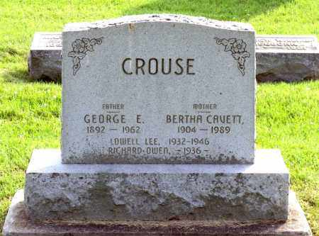 CROUSE, GEORGE E. - Ross County, Ohio | GEORGE E. CROUSE - Ohio Gravestone Photos