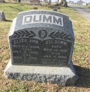 DUMM, ELI FREDERICK - Ross County, Ohio | ELI FREDERICK DUMM - Ohio Gravestone Photos
