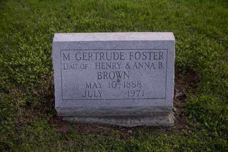 FOSTER, M. GERTRUDE - Ross County, Ohio | M. GERTRUDE FOSTER - Ohio Gravestone Photos