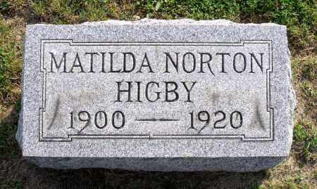 NORTON HIGBY, MATILDA - Ross County, Ohio | MATILDA NORTON HIGBY - Ohio Gravestone Photos