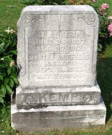KEMP, MARTHA A. - Ross County, Ohio | MARTHA A. KEMP - Ohio Gravestone Photos