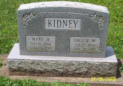 KIDNEY, MARY D. - Ross County, Ohio | MARY D. KIDNEY - Ohio Gravestone Photos