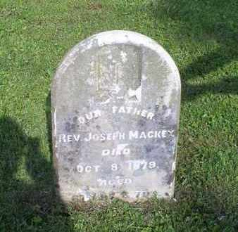 MACKEY, REV. JOSEPH - Ross County, Ohio | REV. JOSEPH MACKEY - Ohio Gravestone Photos