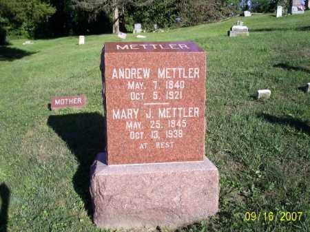 METTLER, MARY JANE - Ross County, Ohio | MARY JANE METTLER - Ohio Gravestone Photos