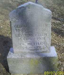 METTLER, WM. - Ross County, Ohio | WM. METTLER - Ohio Gravestone Photos