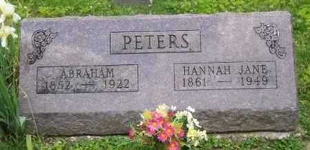 PETERS, HANNAH JANE - Ross County, Ohio | HANNAH JANE PETERS - Ohio Gravestone Photos