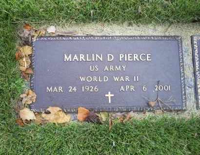 PIERCE, MARLIN D. - Ross County, Ohio | MARLIN D. PIERCE - Ohio Gravestone Photos