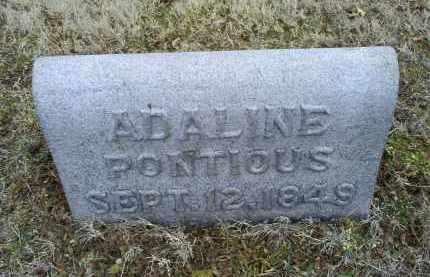 PONTIOUS, ADALINE - Ross County, Ohio | ADALINE PONTIOUS - Ohio Gravestone Photos