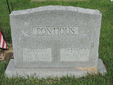 PONTIOUS, DANALD - Ross County, Ohio   DANALD PONTIOUS - Ohio Gravestone Photos