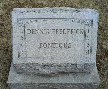 PONTIOUS, DENNIS FREDERICK - Ross County, Ohio | DENNIS FREDERICK PONTIOUS - Ohio Gravestone Photos
