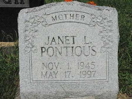 PONTIOUS, JANET L - Ross County, Ohio   JANET L PONTIOUS - Ohio Gravestone Photos