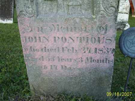 PONTIOUS, JOHN - Ross County, Ohio | JOHN PONTIOUS - Ohio Gravestone Photos