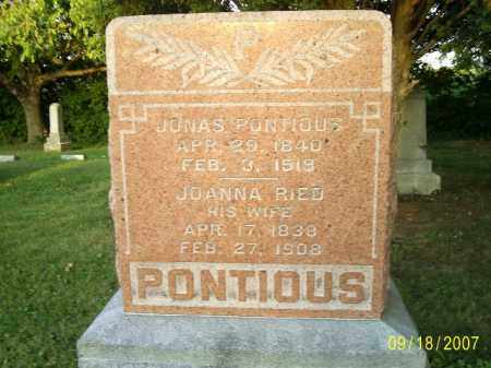 PONTIOUS, JACOB - Ross County, Ohio | JACOB PONTIOUS - Ohio Gravestone Photos