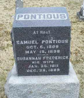 PONTIOUS, SAMUEL - Ross County, Ohio | SAMUEL PONTIOUS - Ohio Gravestone Photos
