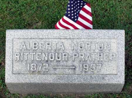 RITTENOUR PRATHER, ALBERTA NORTON - Ross County, Ohio   ALBERTA NORTON RITTENOUR PRATHER - Ohio Gravestone Photos