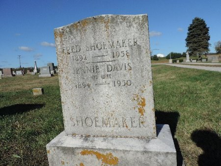 SHOEMAKER, JENNIE - Ross County, Ohio | JENNIE SHOEMAKER - Ohio Gravestone Photos