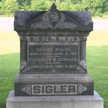 DESHLER SIGLER, ELIZABETH M. - Ross County, Ohio | ELIZABETH M. DESHLER SIGLER - Ohio Gravestone Photos