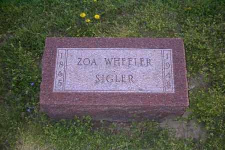 WHEELER SIGLER, ZOA - Ross County, Ohio | ZOA WHEELER SIGLER - Ohio Gravestone Photos