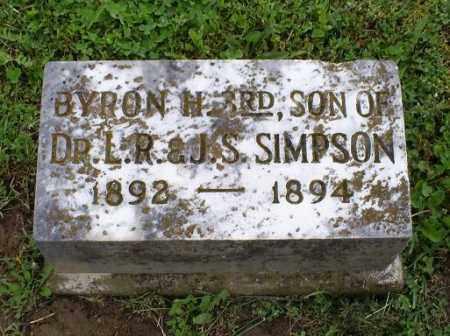 SIMPSON, BYRON H. 3RD - Ross County, Ohio | BYRON H. 3RD SIMPSON - Ohio Gravestone Photos