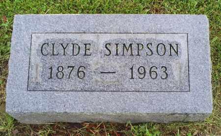 SIMPSON, CLYDE - Ross County, Ohio | CLYDE SIMPSON - Ohio Gravestone Photos