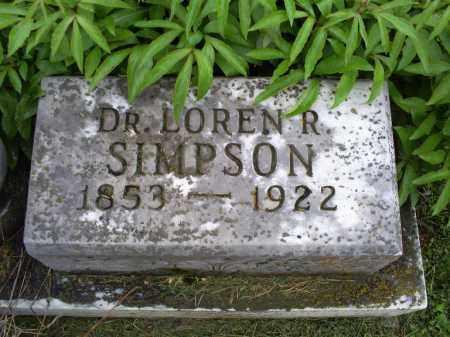 SIMPSON, DR. LAUREN R. - Ross County, Ohio   DR. LAUREN R. SIMPSON - Ohio Gravestone Photos