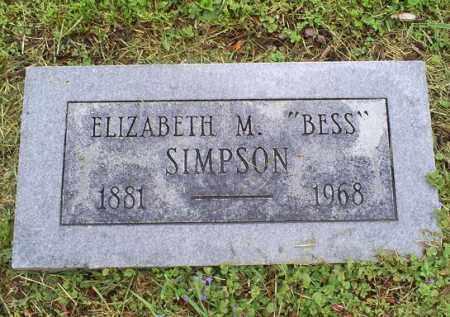 "SIMPSON, ELIZABETH M. ""BESS"" - Ross County, Ohio | ELIZABETH M. ""BESS"" SIMPSON - Ohio Gravestone Photos"