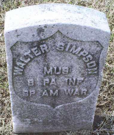 SIMPSON, WALTER - Ross County, Ohio | WALTER SIMPSON - Ohio Gravestone Photos