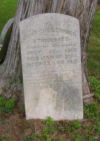 STRICKROTT, JOHN CHRISTOPHER - Ross County, Ohio | JOHN CHRISTOPHER STRICKROTT - Ohio Gravestone Photos
