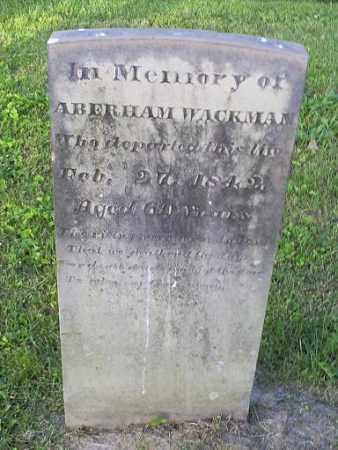 WACKMAN, ABERHAM - Ross County, Ohio   ABERHAM WACKMAN - Ohio Gravestone Photos