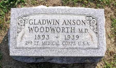WOODWORTH, GLADWIN ANSON - Ross County, Ohio | GLADWIN ANSON WOODWORTH - Ohio Gravestone Photos