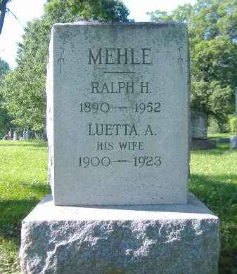 MEHLE, LUETTA A. - Sandusky County, Ohio | LUETTA A. MEHLE - Ohio Gravestone Photos