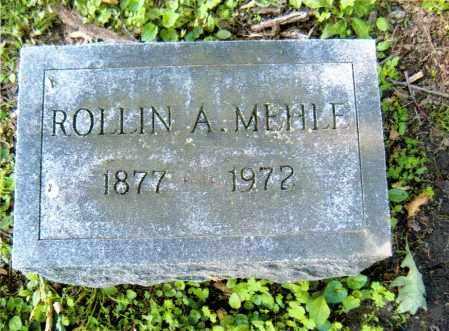MEHLE, ROLLIN ALBERT - Sandusky County, Ohio   ROLLIN ALBERT MEHLE - Ohio Gravestone Photos