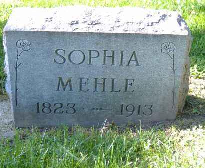 MEHLE, SOPHIA - Sandusky County, Ohio   SOPHIA MEHLE - Ohio Gravestone Photos