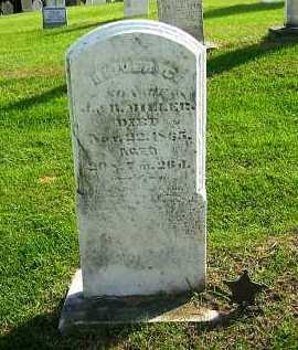 MILLER, ? - Sandusky County, Ohio | ? MILLER - Ohio Gravestone Photos
