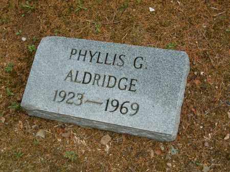BOND ALDRIDGE, PHYLLIS G - Scioto County, Ohio | PHYLLIS G BOND ALDRIDGE - Ohio Gravestone Photos
