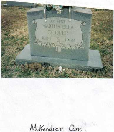 COOPER, MARTHA ELLA - Scioto County, Ohio | MARTHA ELLA COOPER - Ohio Gravestone Photos