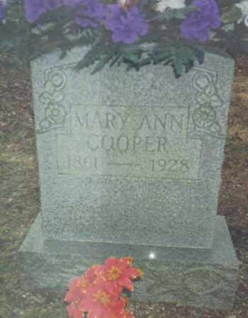 COOPER, MARY ANN - Scioto County, Ohio   MARY ANN COOPER - Ohio Gravestone Photos
