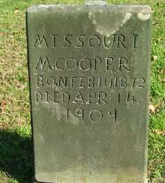 COOPER, MISSOURI M. - Scioto County, Ohio | MISSOURI M. COOPER - Ohio Gravestone Photos